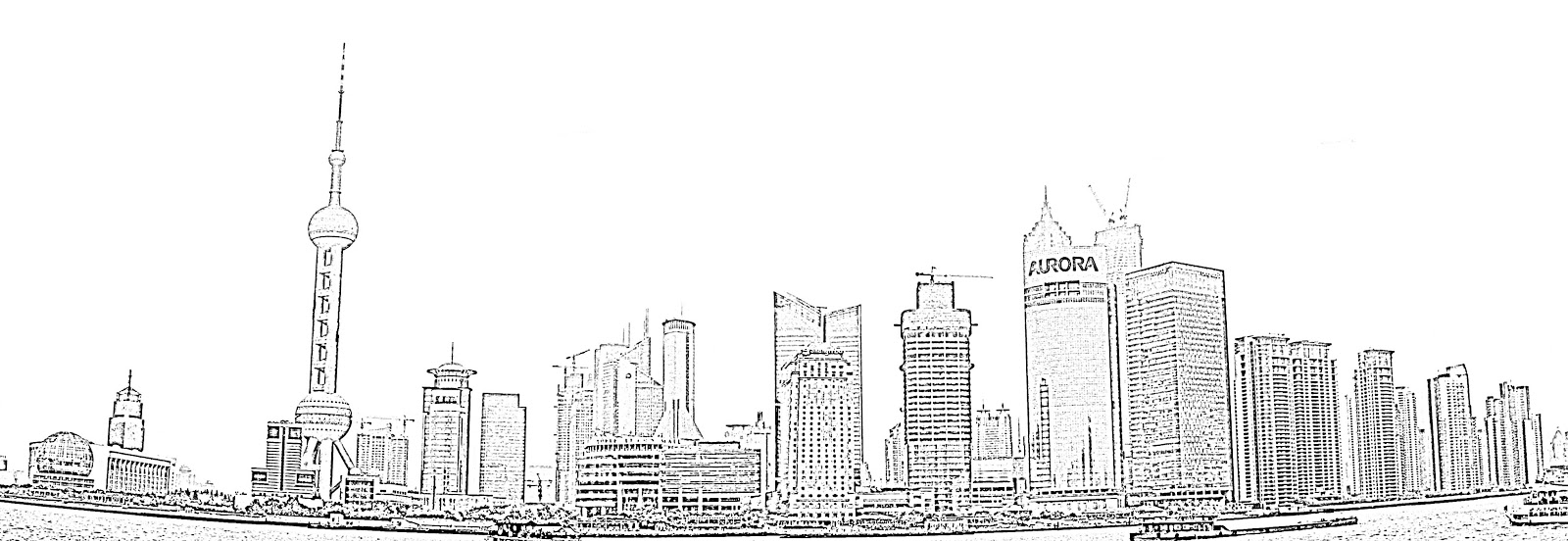 city skyline sketches - photo #32