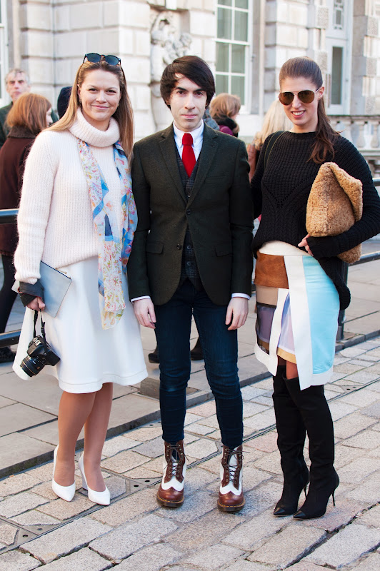 Nancy (It's a Lifestyle Thing), Jai'me Jan (Boy Meets Fashion) and Wendy Gilmour (ThankFiFi), at London Fashion Week