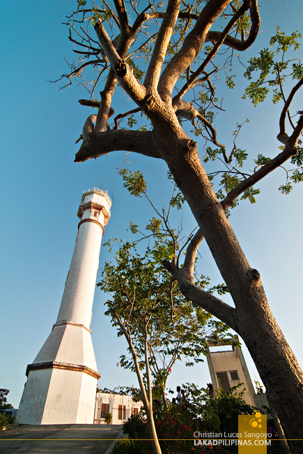 Trees and the Cape Bolinao Lighthouse in Pangasinan