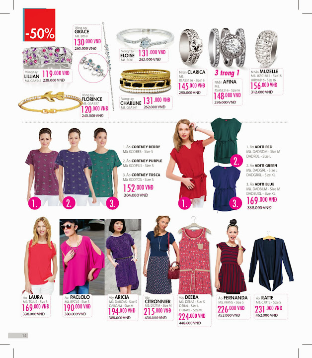 Sophie Outlet 06 khuyến mại 50% tháng 02/2014