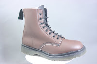 mainly brown 8 eyelet bouncing boot with 4 layer cushioned sole and breathable microfibre upper