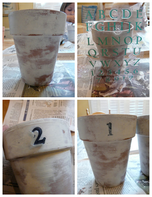 How to antique a terra cotta pot with acrylic paint