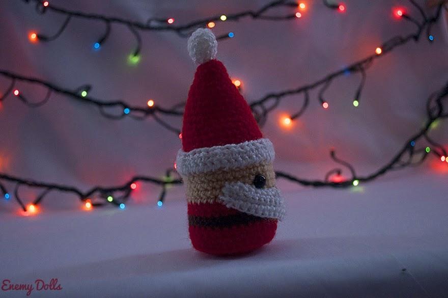 Papa Noel amigurumi patron gratis