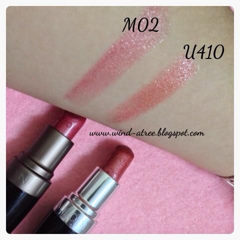 [Review] Avon lipstick in M02 and U410