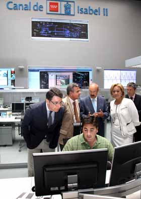 Centro de control del canal de isabel ii es por madrid for Oficinas canal isabel ii madrid