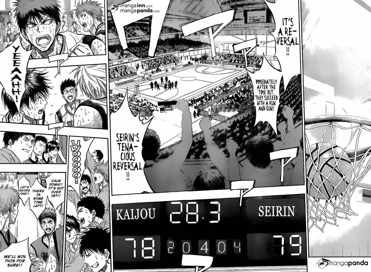 Kuroko no Basket Manga Chapter 200 - Image 16-17