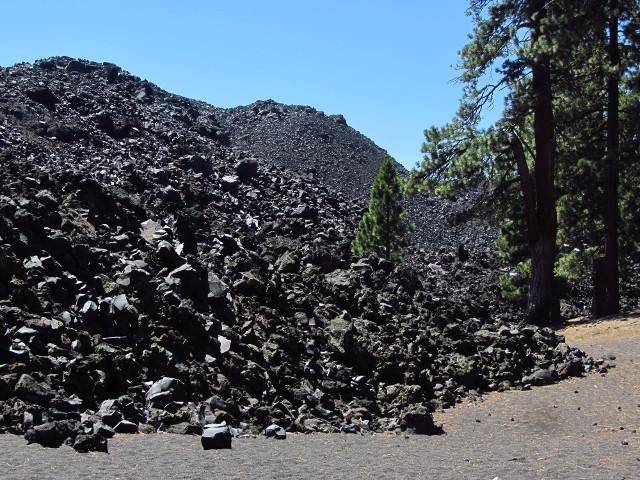 edge of lava flow
