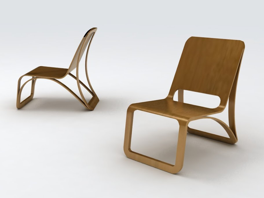 Design Student Bent Plywood Lounge Chair Project