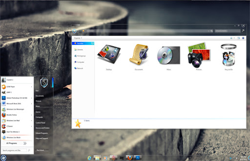 Whisper Theme For Windows 7