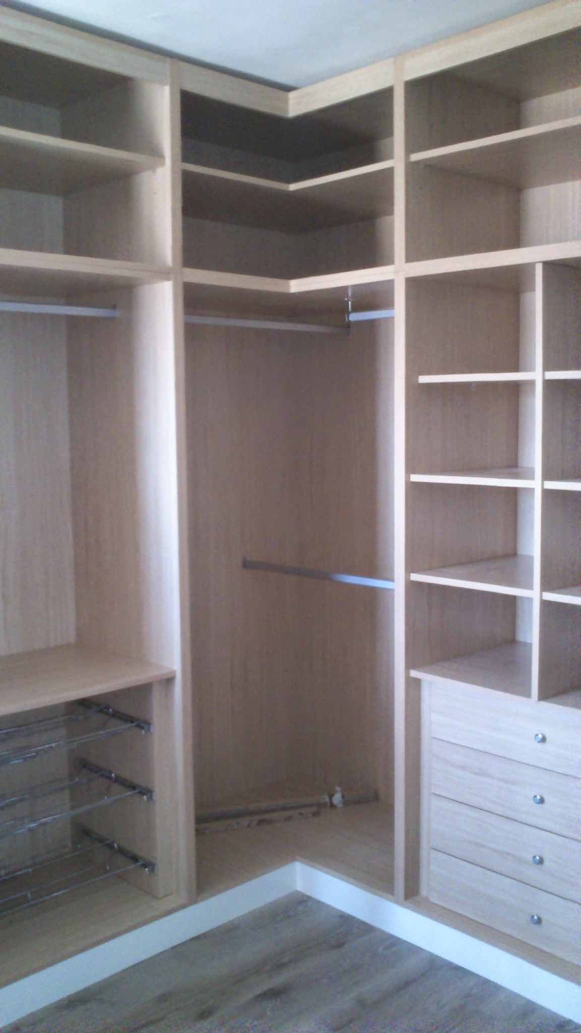 Armarios empotrados de esquina armario puertas la esquina vestidor esquina a medida blanco - Armarios de esquina a medida ...