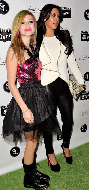 KIM KARDASHIAN AND AVRIL LAVIGNES AT NEW ALBUM MUSIC RELEASE PARTY IN NEW YORK