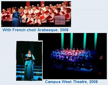 With French Choir Arabesque 2008 and Campus West theatre 2008