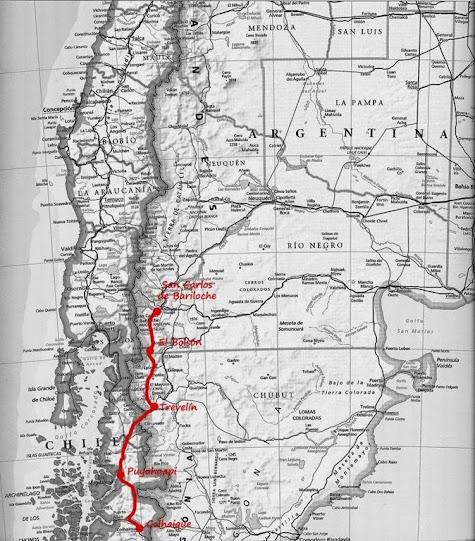 Mapa ruta patagonia