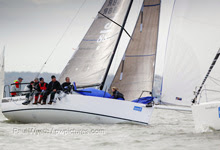 J/88 setting spinnaker on Hamble winter series