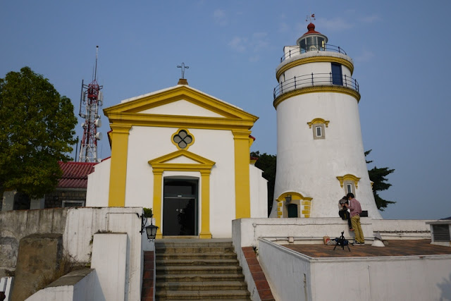 Chapel and lighthouse at Guia Fort in Macau