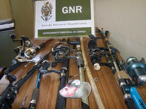 Detenção por pesca ilegal - GNR de Lamego