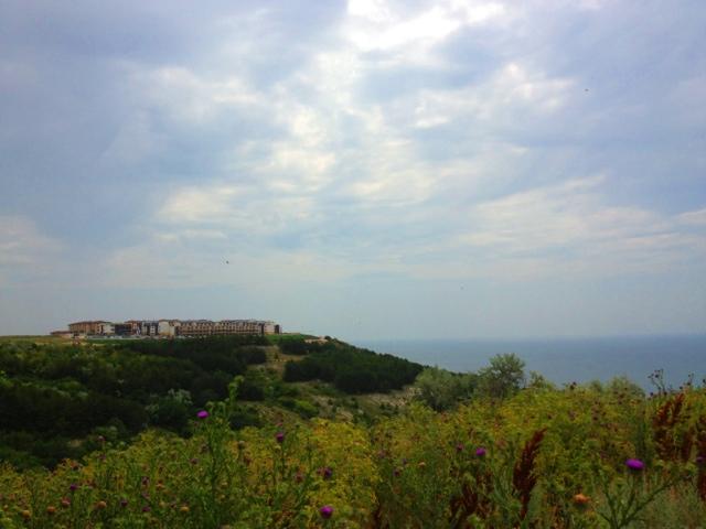 Picture of the Black Sea coast in northeastern Bulgaria.