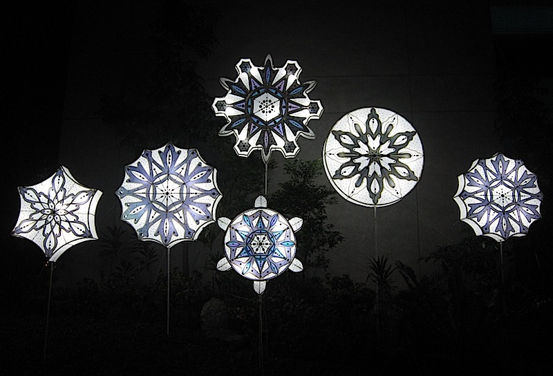 parol in front of the Ayala Museum