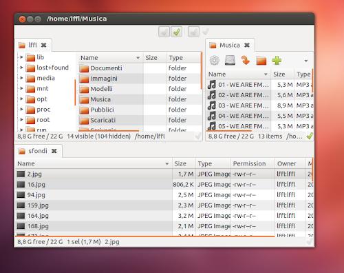 SpaceFM 0.8.0 su Ubuntu
