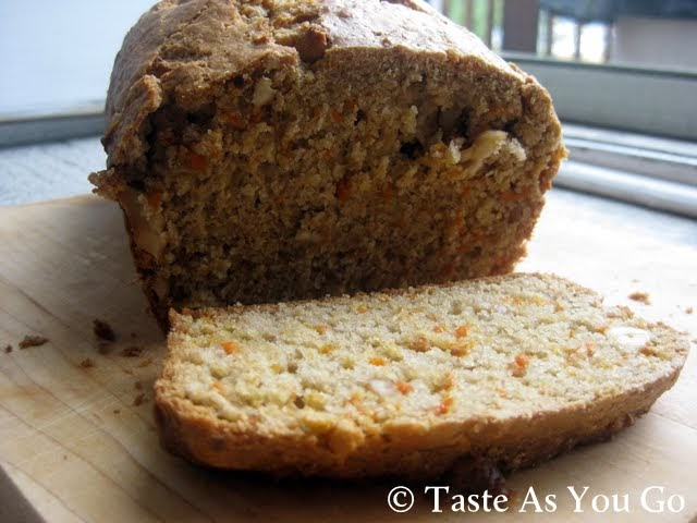Cinnamon Carrot Cashew Bread | Taste As You Go