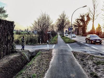 Radweg an der B74 in Osterholz-Scharmbeck