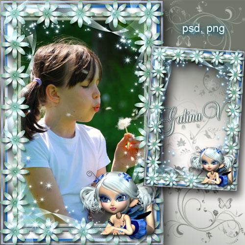 Детская рамка - Цветочная Фея