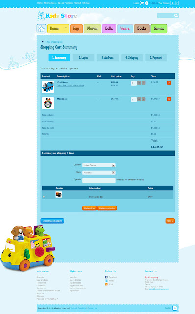 Baby Shop (Kid Stores 1.0) - Shopping Cart