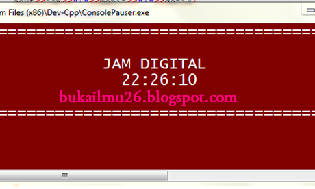 C++ Program Jam Digital  (tanpa CLASS )