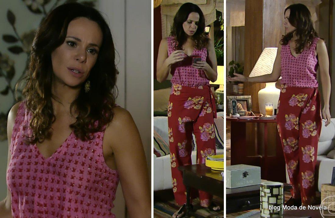 moda da novela Em Família - look da Juliana dia 01 de maio