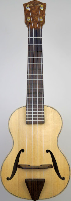 Jazzbox Archtop Spruce & Maple Acoustic Soprano ukulele