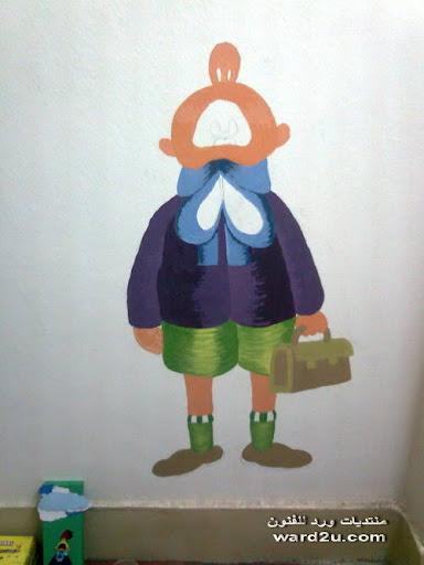جداريه من اعمالى لغرفه طفل