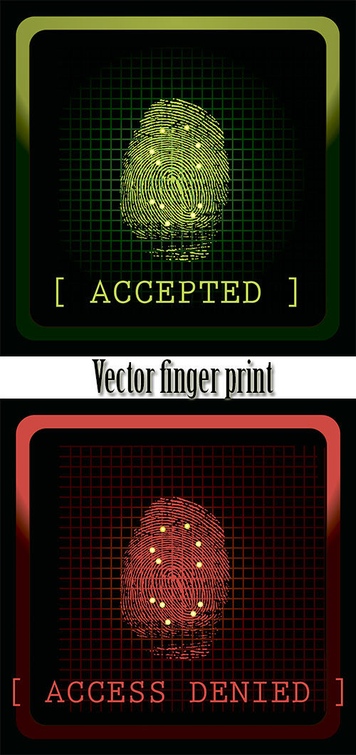 Stock: Vector finger print