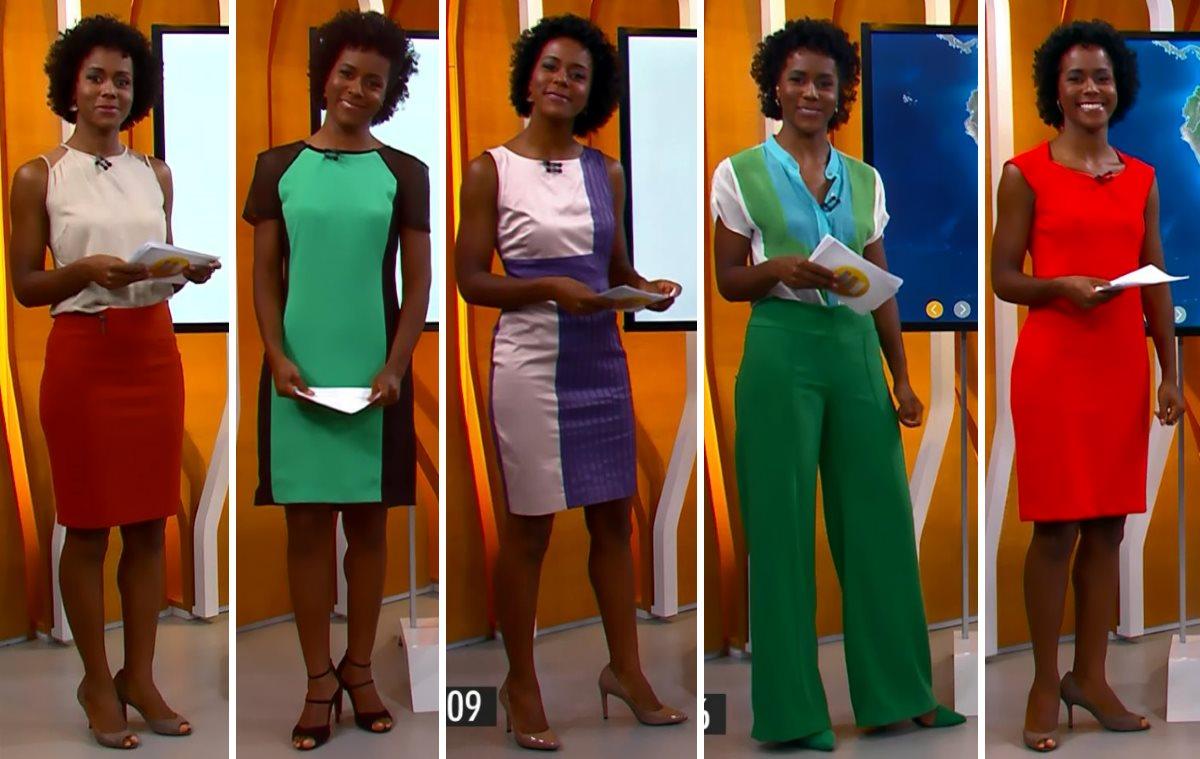 moda do programa Hora 1, looks da Maria Julia Coutinho dias 5 a 9 de janeiro