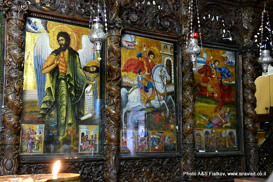 Иконостас православной церкви Благовещения в Назарете. Гид Светлана Фиалкова.