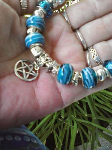 Pagan Wiccan Starlight On Water Euro Style Bracelet By Paganandproudofitart