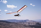 Sandi pilot Mario Manzo launches his Aeros Stalker from Box Canyon, Alamogordo.