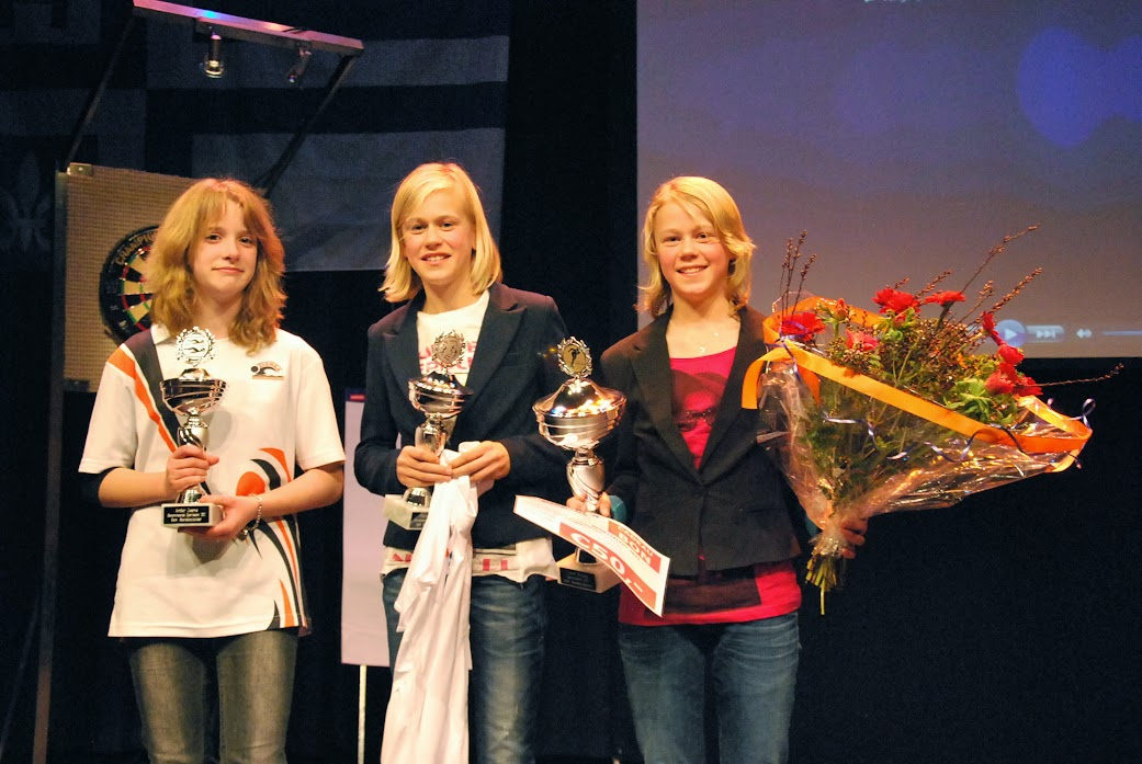 Femke Beuling (rechts) werd in 2011 Sporttalent van het Jaar.
