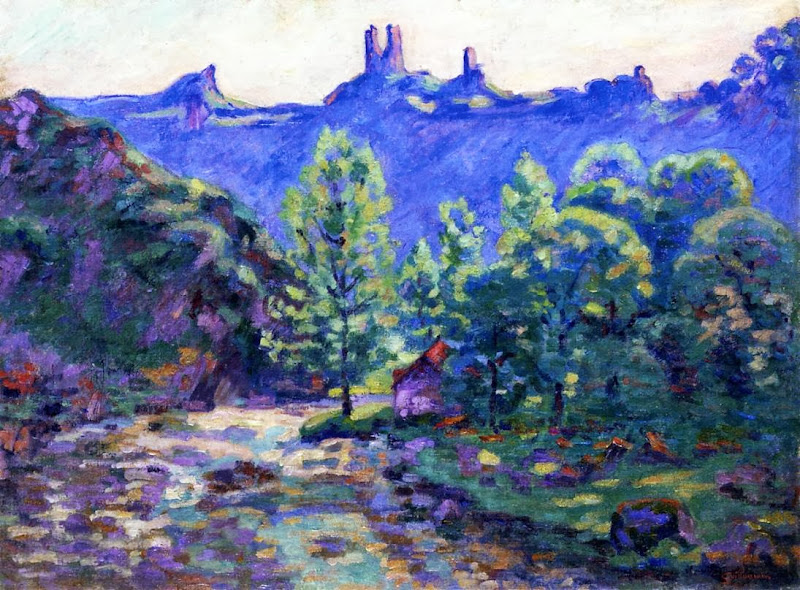 Armand Guillaumin - The Moulin Brigand, Ruins of Chateau de Crozant