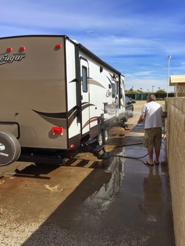 RV trailer wash at Fountain of Youth Spa Imperial County