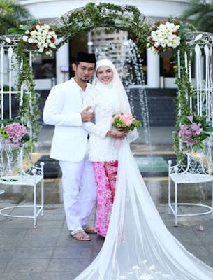 gambar perkahwinan Farid Kamil dan Diana Danielle