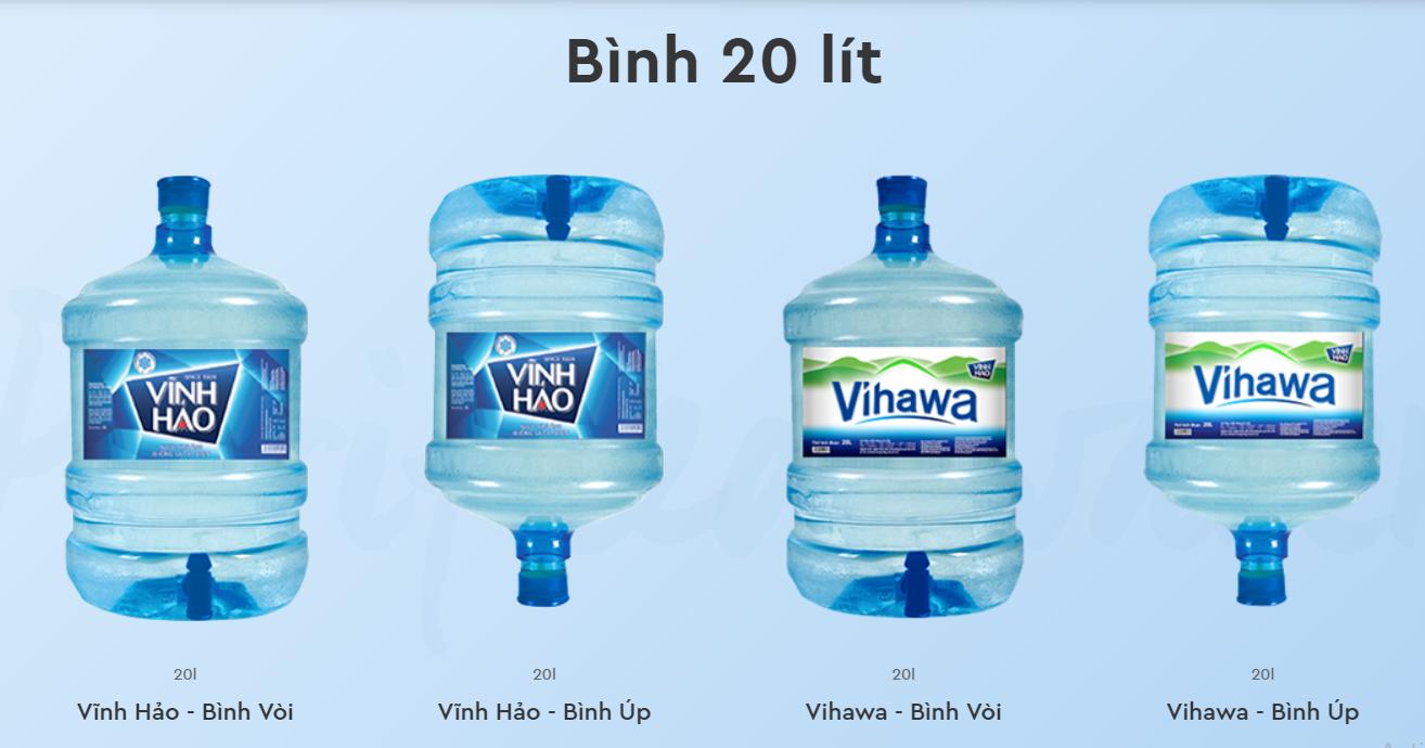 nước uống bình 20l