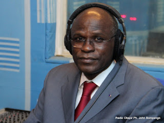 Moustapha Soumare, DSRSG le 27/12/2012 au studio de radio okapi à Kinshasa.Ph. John Bompengo