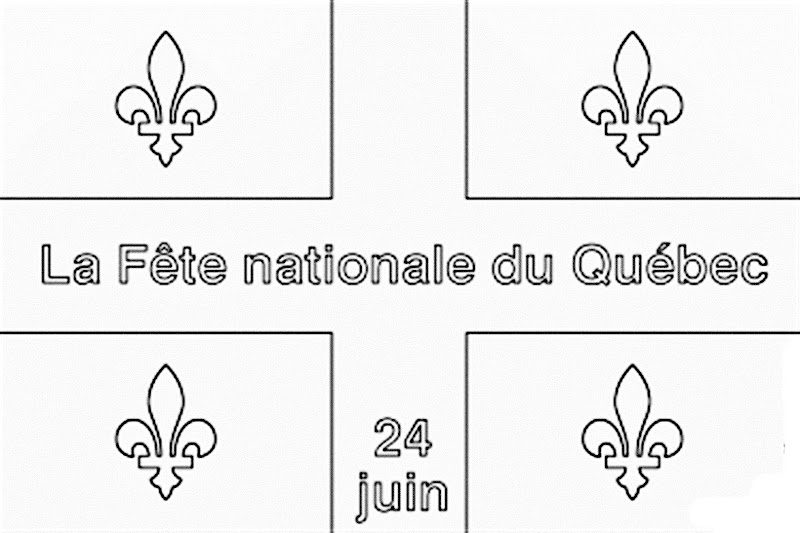Images Quebec national holiday coloring pages