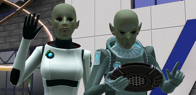 Saludando aliens