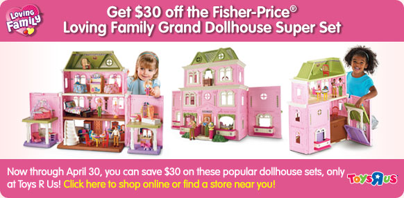 Mommy S Coupon Fairy 30 Off Fisher Price Loving Family Grand
