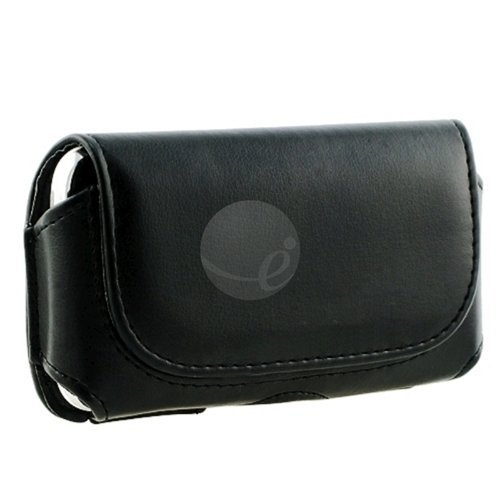 Black Synthetic Leather Case with Magnetic Flap for Motorola MILESTONE XT720