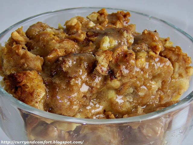 Kitchen Simmer: Cinnamon-Apple Bread Pudding with Caramel Sauce