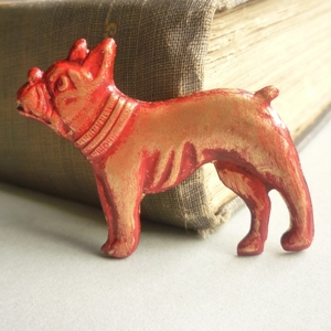 Pink Bulldog Brooch