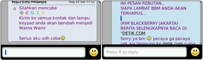 Broadcast Message HOAX di BBM