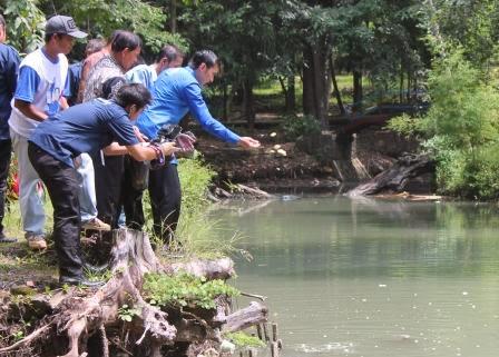Ibas mengunjungi lokasi Wisata Tawun Ngawi